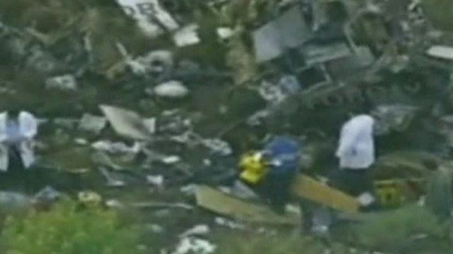 Scene of the helicopter crash