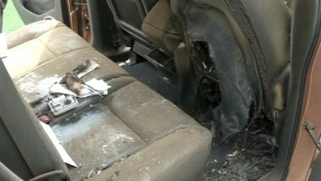 Car used by Wilson Ramos' abductors