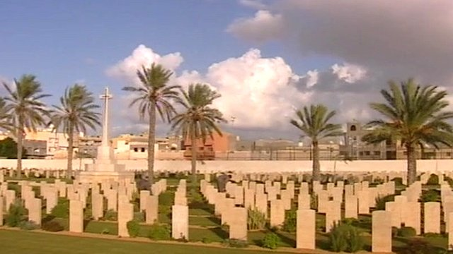 The Commonwealth War Cemetery in Tripoli, Libya