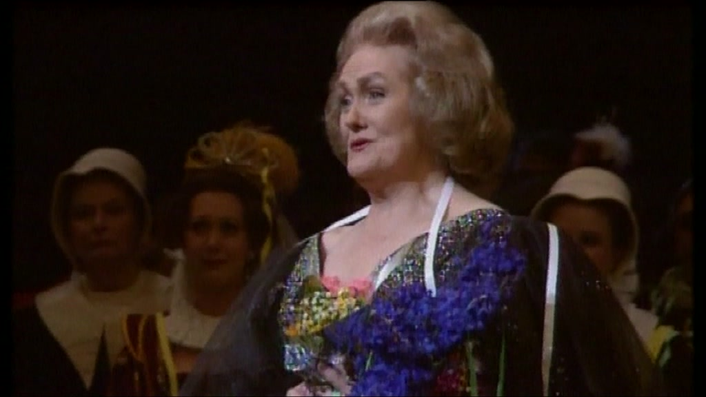 Dame Joan Sutherland at the Royal Opera House