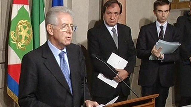 Italy's interim PM Mario Monti