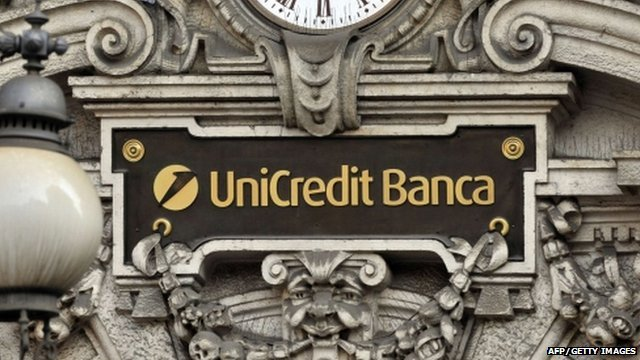 Exterior of UniCredit headquarters in Milan