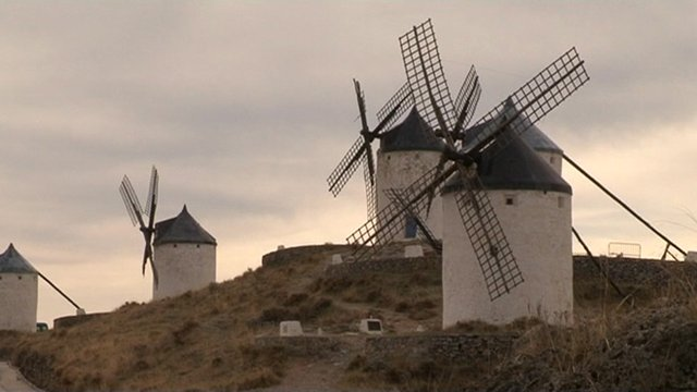 Windmills on hill