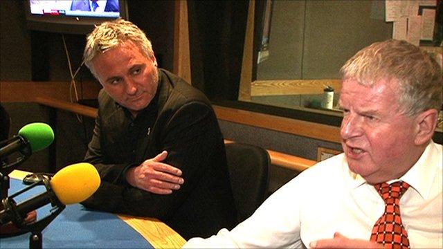 Ian McGarry and John Motson
