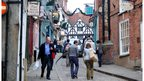 Steep Hill has many small independent shops up its steep slope