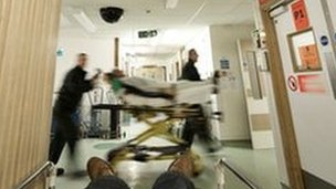 Busy emergency department