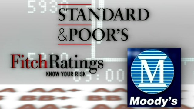Fitch Ratings, Standard & Poor's and Moody's logos