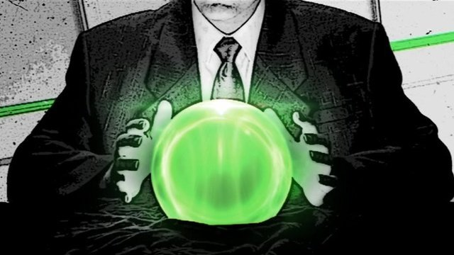 Graphic of crystal ball