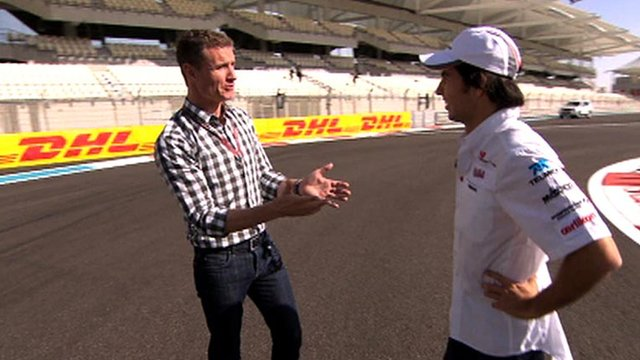 David Coulthard with Sergio Perez