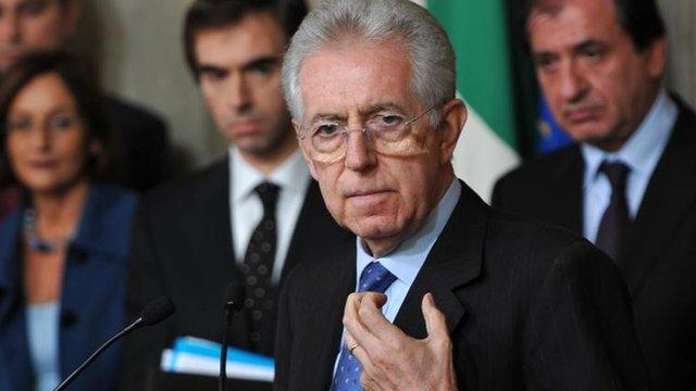 Italian prime minister-designate Mario Monti