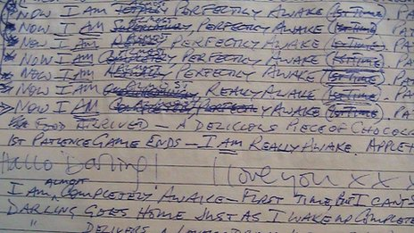 Extract from Clive Wearing's diary in 1990
