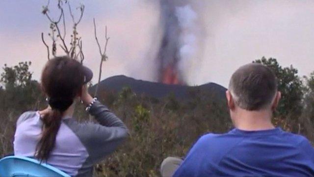 Nyamulagira volcano in Virunga national park, DR Congo