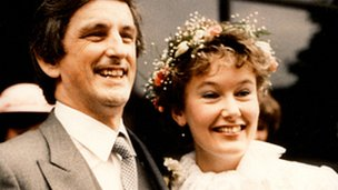 Clive and Deborah on their wedding day in 1983
