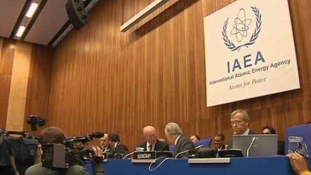 Delegates at the IAEA meeting