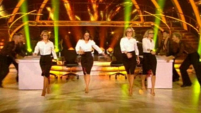 BBC newsreaders dance Strictly style