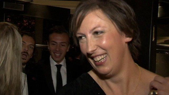Miranda Hart at the Evening Standard Theatre Awards