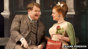 James Corden and Suzie Toase in One Man, Two Guvnors. Photo by Johan Persson