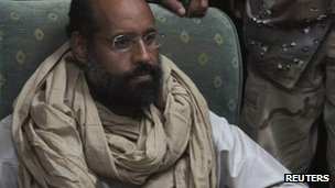 Saif al-Islam after his capture