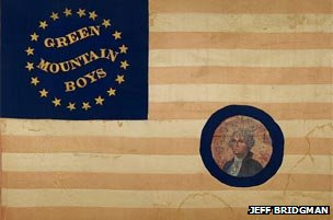 Civil War era flag with stars of southern states left off, photo courtesy of Jeff Bridgman Antiques