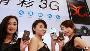 Models showing ZTE smartphones