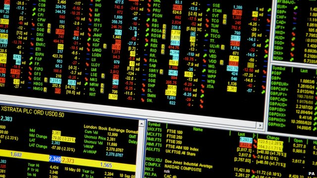 A screen showing trading on the FTSE 100 index