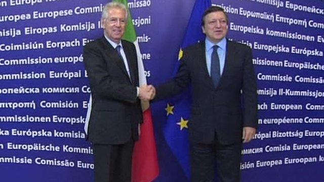 Mario Monti meets EU leaders