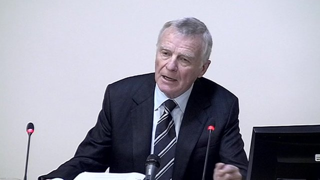 Max Mosley at the Media Ethics Enquiry