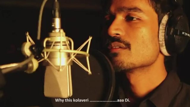 """Tamil actor Dhanush singing his """"nonsense"""" song"""