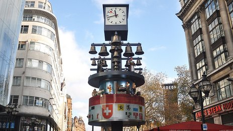 Swiss Glockenspiel in Leicester Square