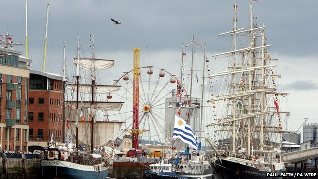 Tall ships in Belfast Harbour
