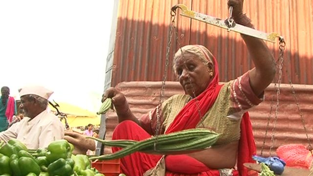 Woman in Indian market