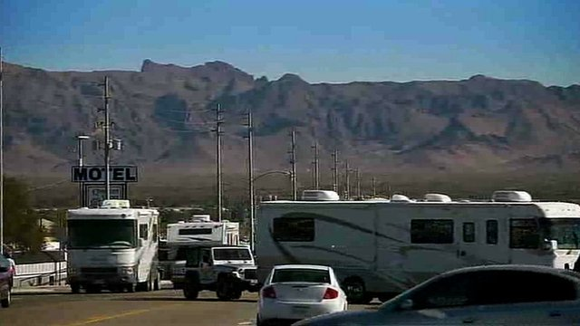 Motorhomes in Quartzite, Arizona