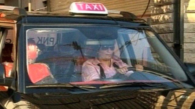 Female taxi driver in Arbil