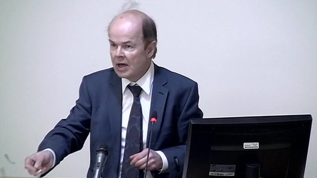 Christopher Jefferies gives evidence at the Leveson Inquiry into media ethics.