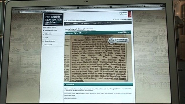 The British Newspaper Archive website
