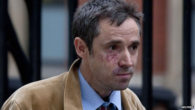 Ex-News of the World journalist Paul McMullan leaves the Leveson Inquiry