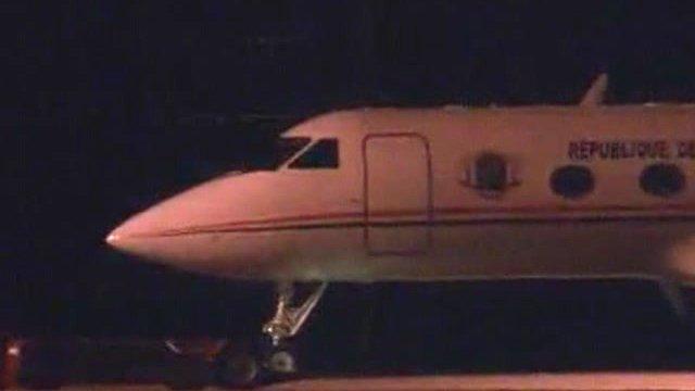 Plane on tarmac at Rotterdam