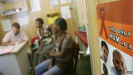Patients queue for Aids drugs at a clinic in KwaZulu Natal, file, AFP
