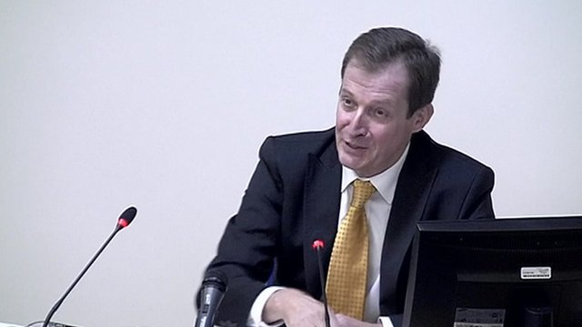 Alastair Campbell gives evidence at the Leveson Inquiry into media ethics.