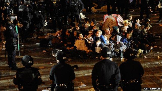 Occupy protesters in LA