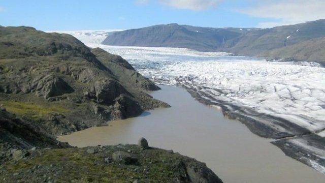 Glacial region in Iceland