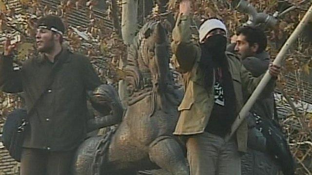 Protesters in Tehran, Iran