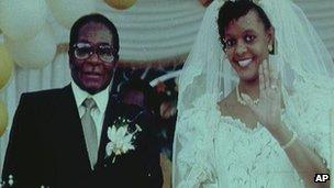 Robert and Grace Mugabe (file image from 1996)