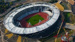 The Olympic stadium from the air