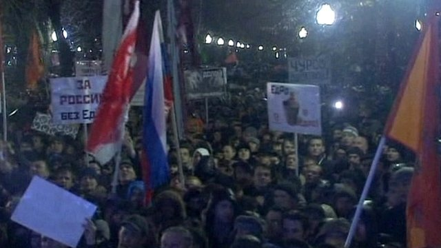 Anti-Putin rally in Moscow