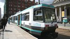 A new generation tram in Manchester