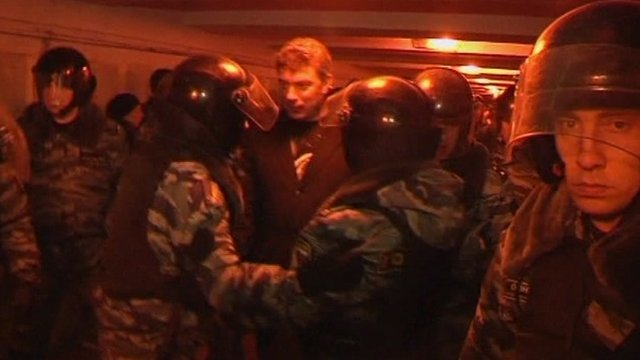 Veteran liberal politician Boris Nemtsov is arrested