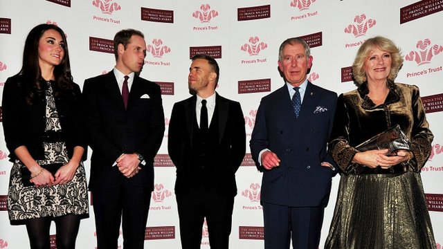 Gary Barlow with Royals