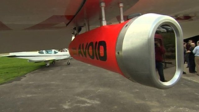 Device attached to aircraft which can detect volcanic ash in the sky.