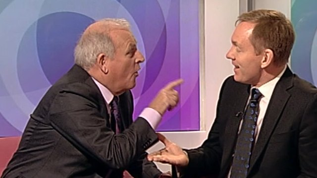 Kelvin MacKenzie (left) and Chris Bryant